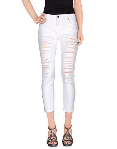 Купить Джинсовые брюки от UP ★ JEANS белого цвета