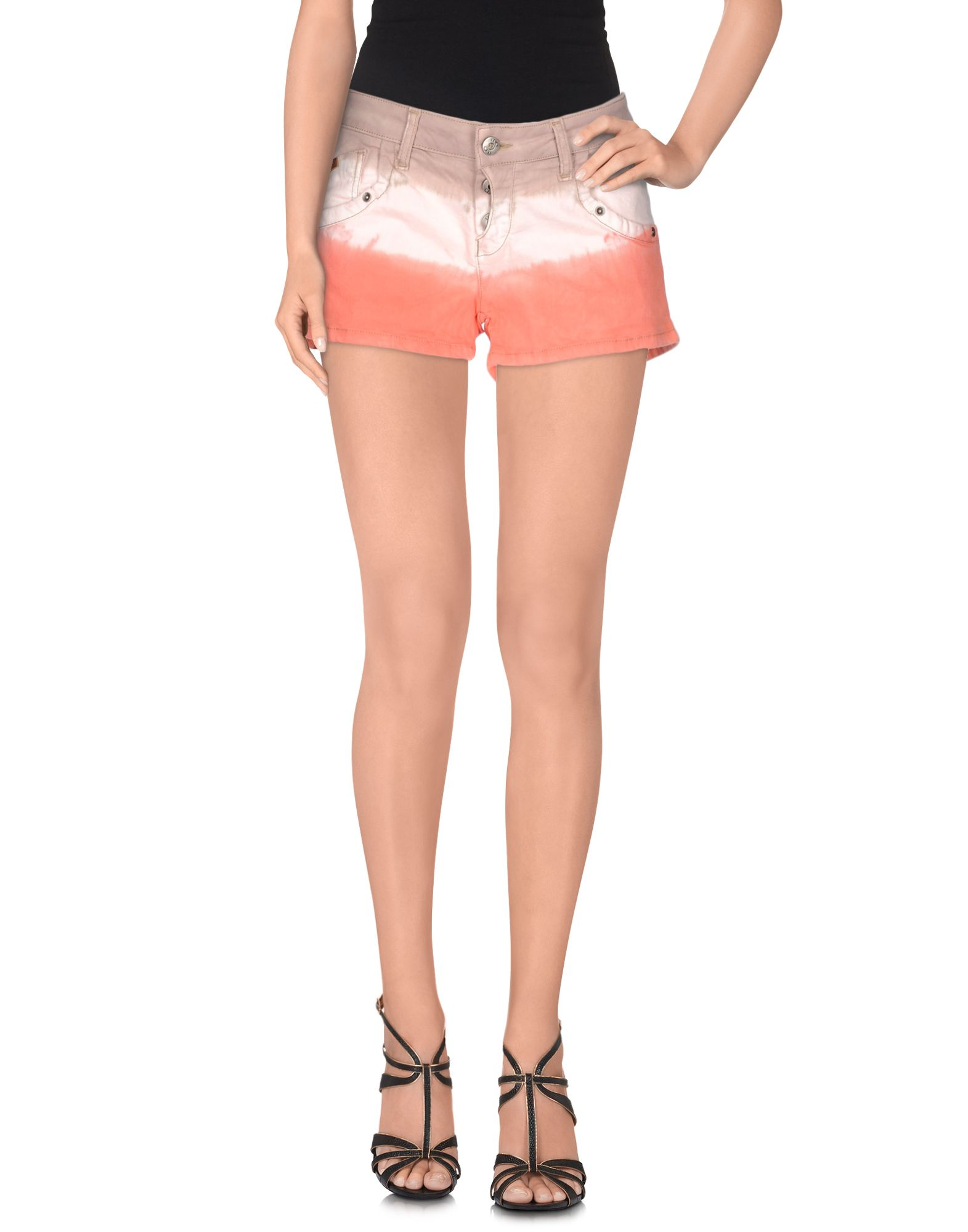 TOTON COMELLA - TCN Damen Jeansshorts Farbe Koralle Größe 5