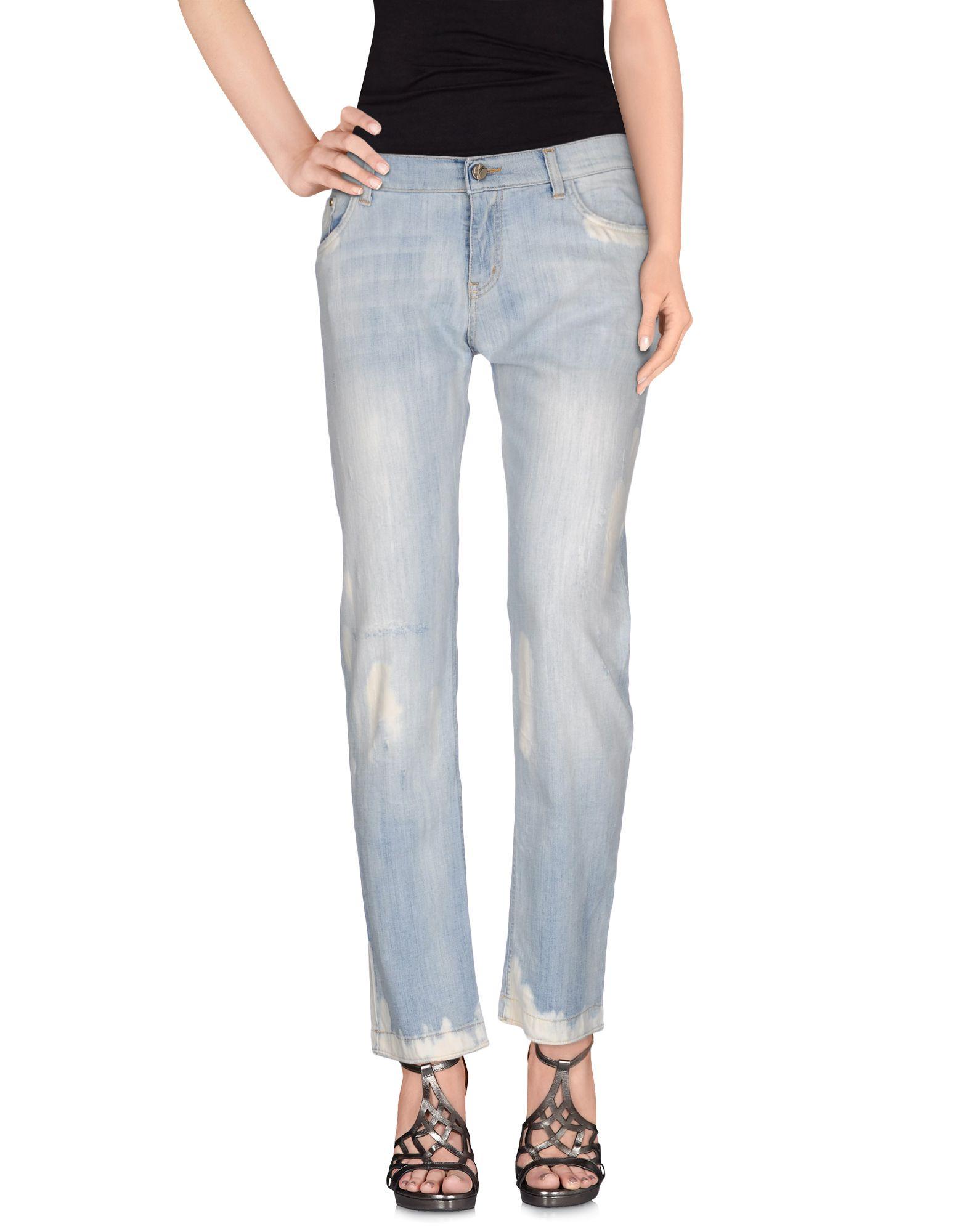 MANILA GRACE DENIM Джинсовые брюки цены онлайн