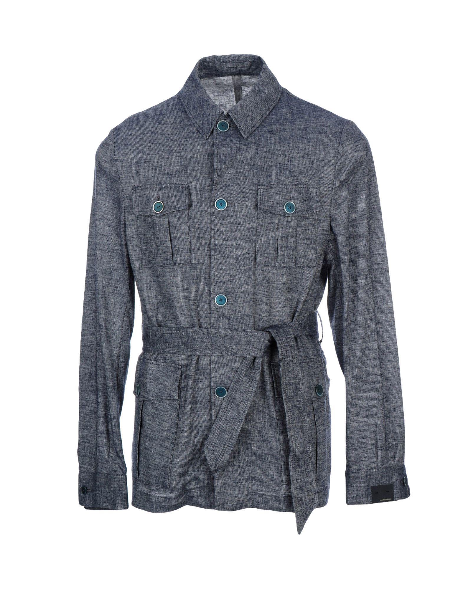 LARDINI Джинсовая верхняя одежда брендовая одежда