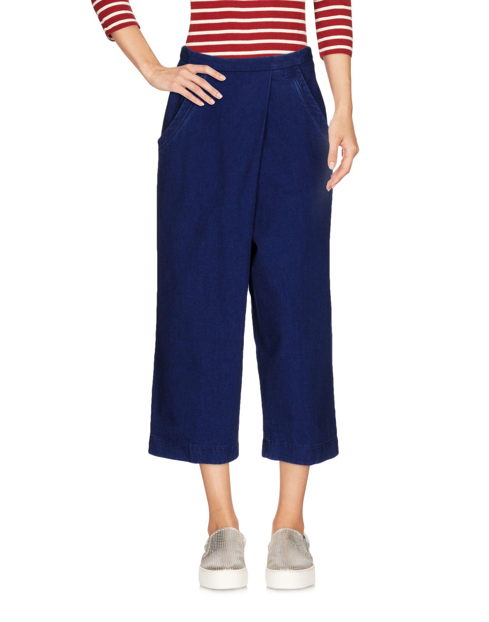 цена PENCE Джинсовые брюки-капри онлайн в 2017 году