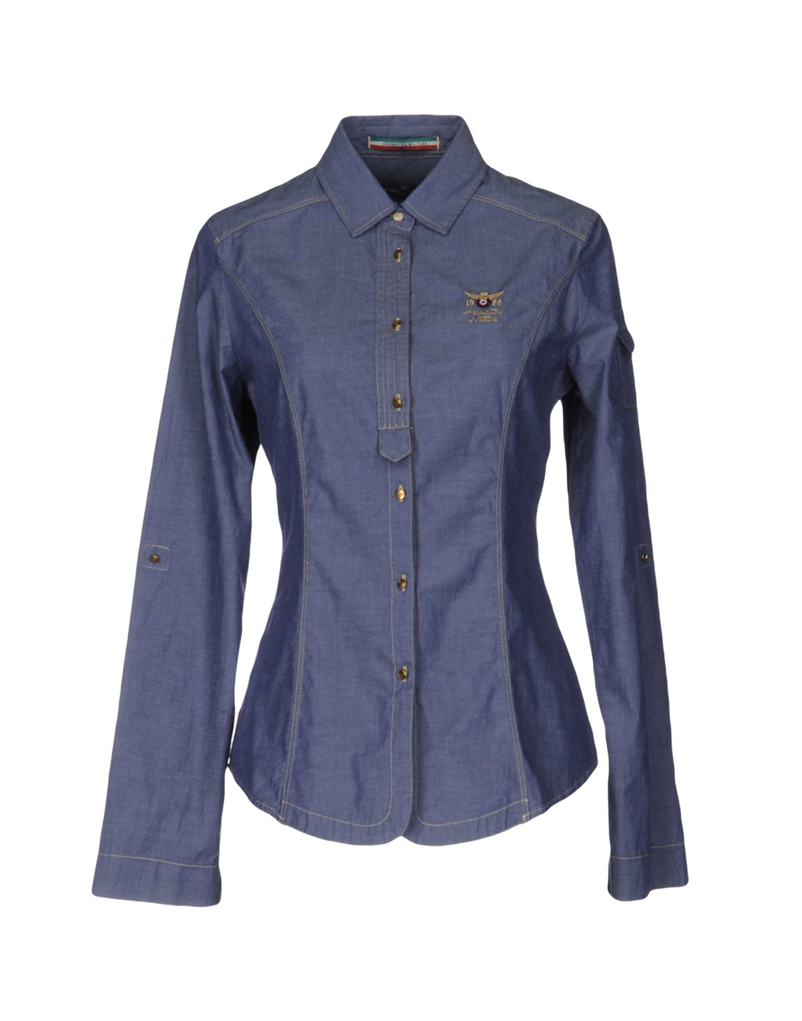 AERONAUTICA MILITARE Джинсовая рубашка джинсовая рубашка quelle arizona 610860