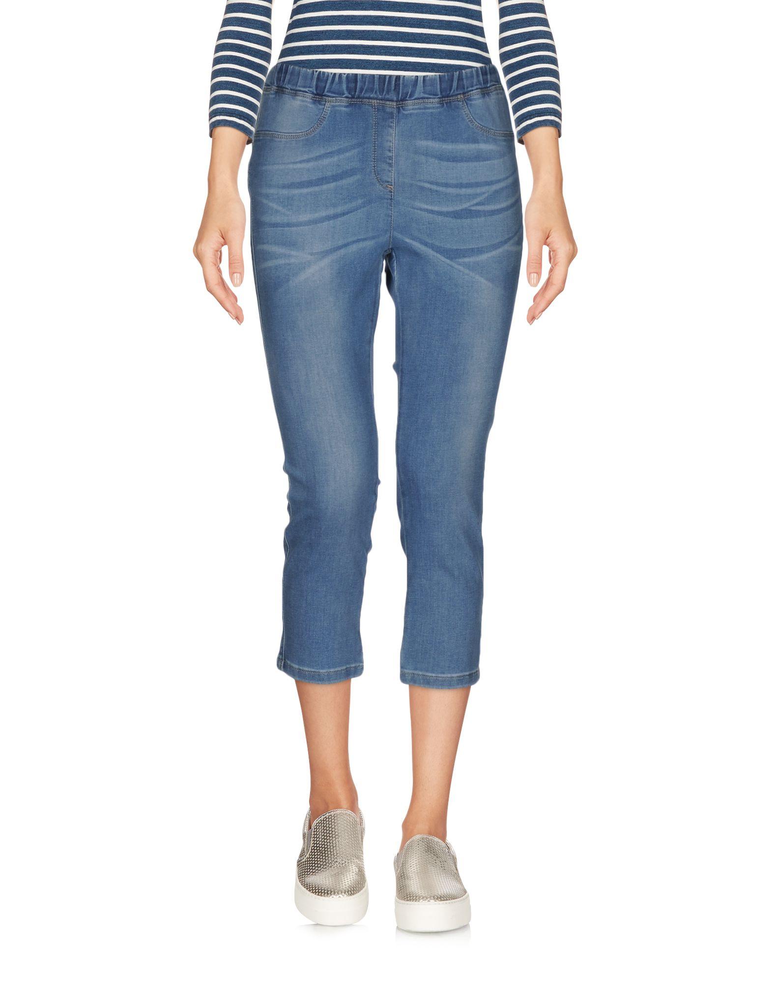 купить BLUE LES COPAINS Джинсовые брюки-капри по цене 3350 рублей