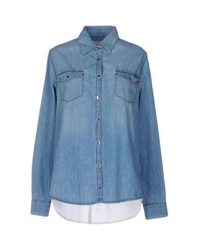 Фото - Джинсовая рубашка от ELISABETTA FRANCHI JEANS синего цвета