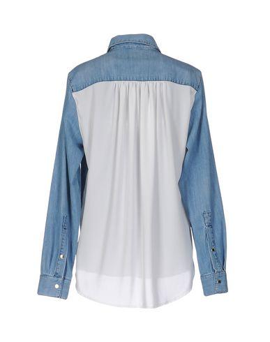 Фото 2 - Джинсовая рубашка от ELISABETTA FRANCHI JEANS синего цвета