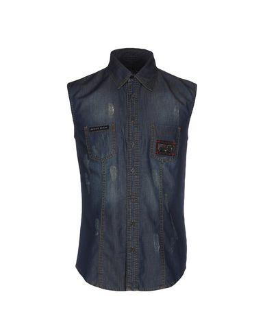 Джинсовая рубашка PHILIPP PLEIN 42552715PQ