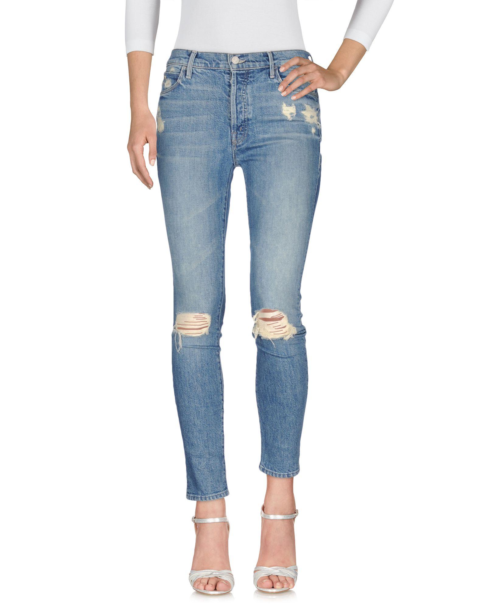 CANDICE SWANEPOEL + MOTHER Джинсовые брюки