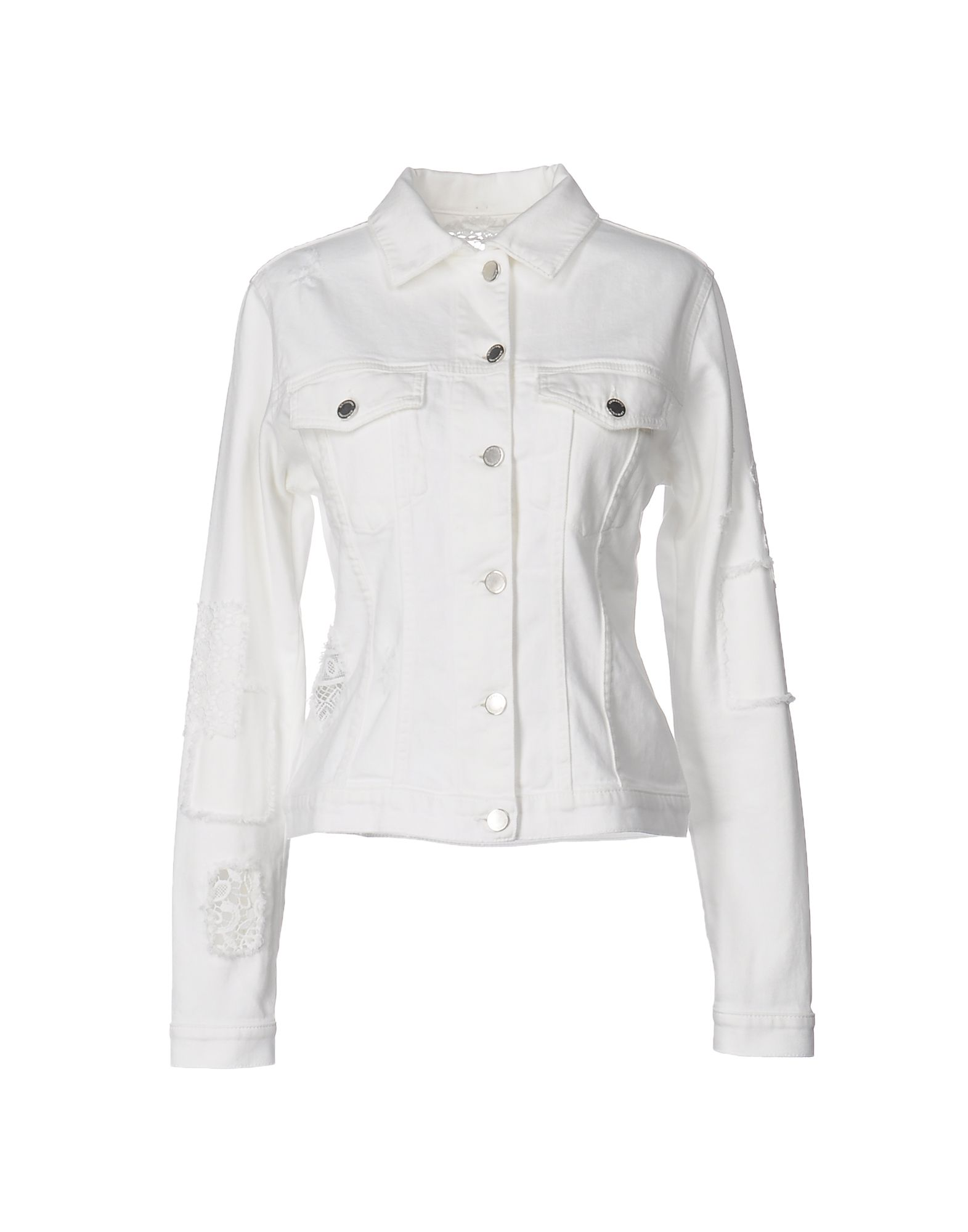 цена ERMANNO DI ERMANNO SCERVINO Джинсовая верхняя одежда онлайн в 2017 году
