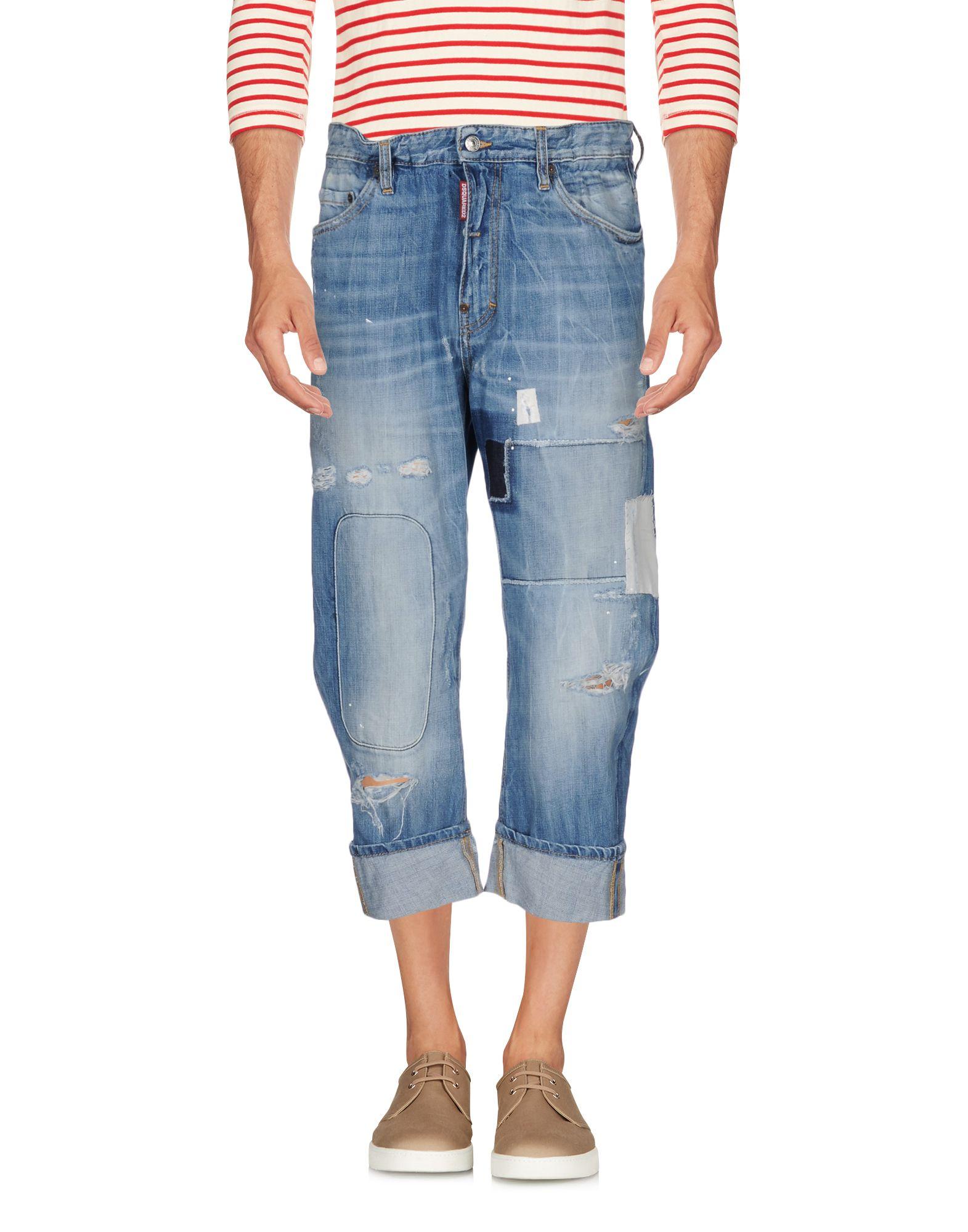 ФОТО dsquared2 Джинсовые брюки-капри