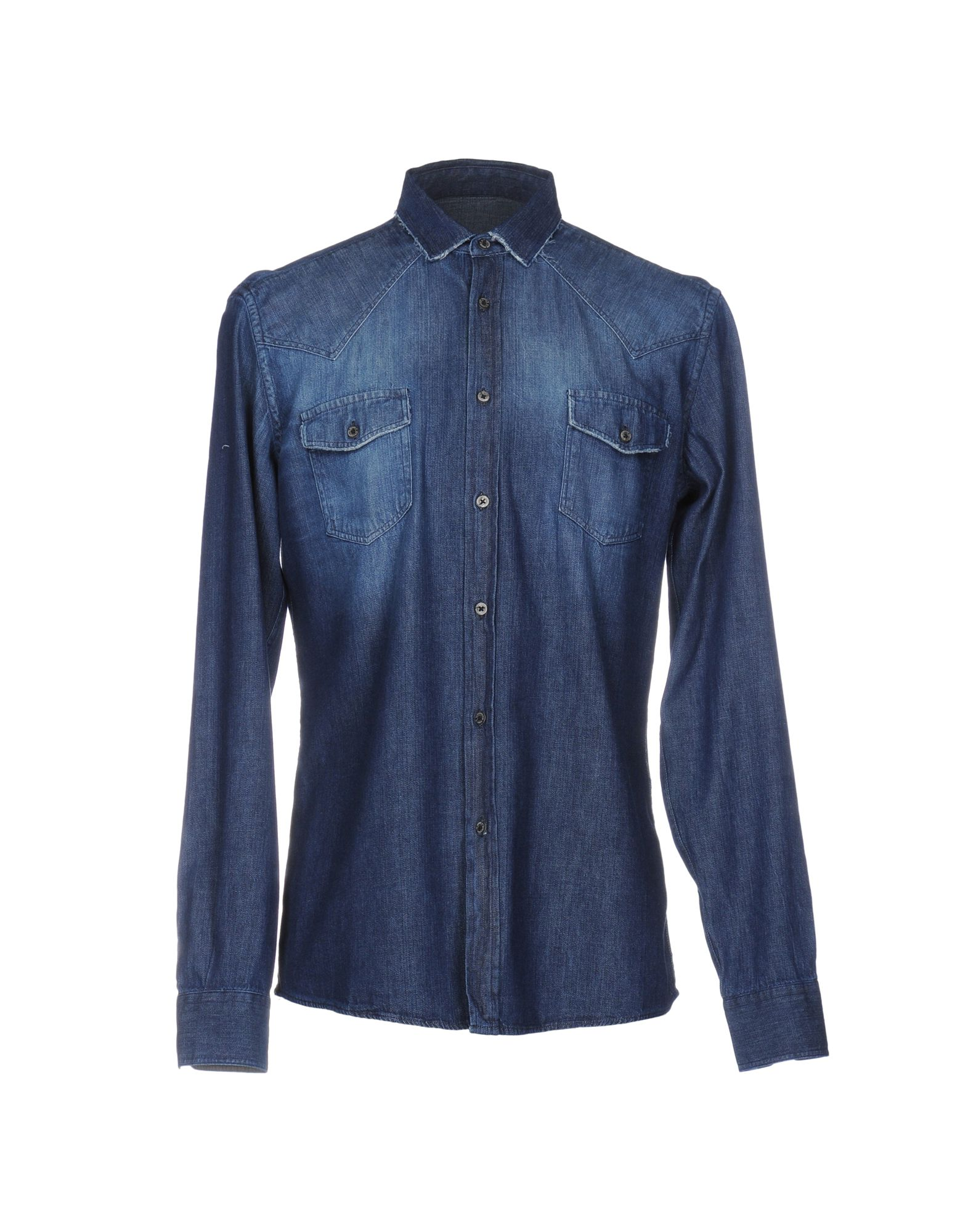 GREY DANIELE ALESSANDRINI Джинсовая рубашка daniele alessandrini homme джинсовая рубашка