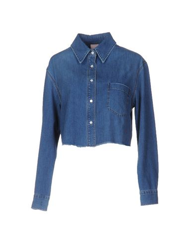 Джинсовая рубашка (+) PEOPLE 42555258CQ
