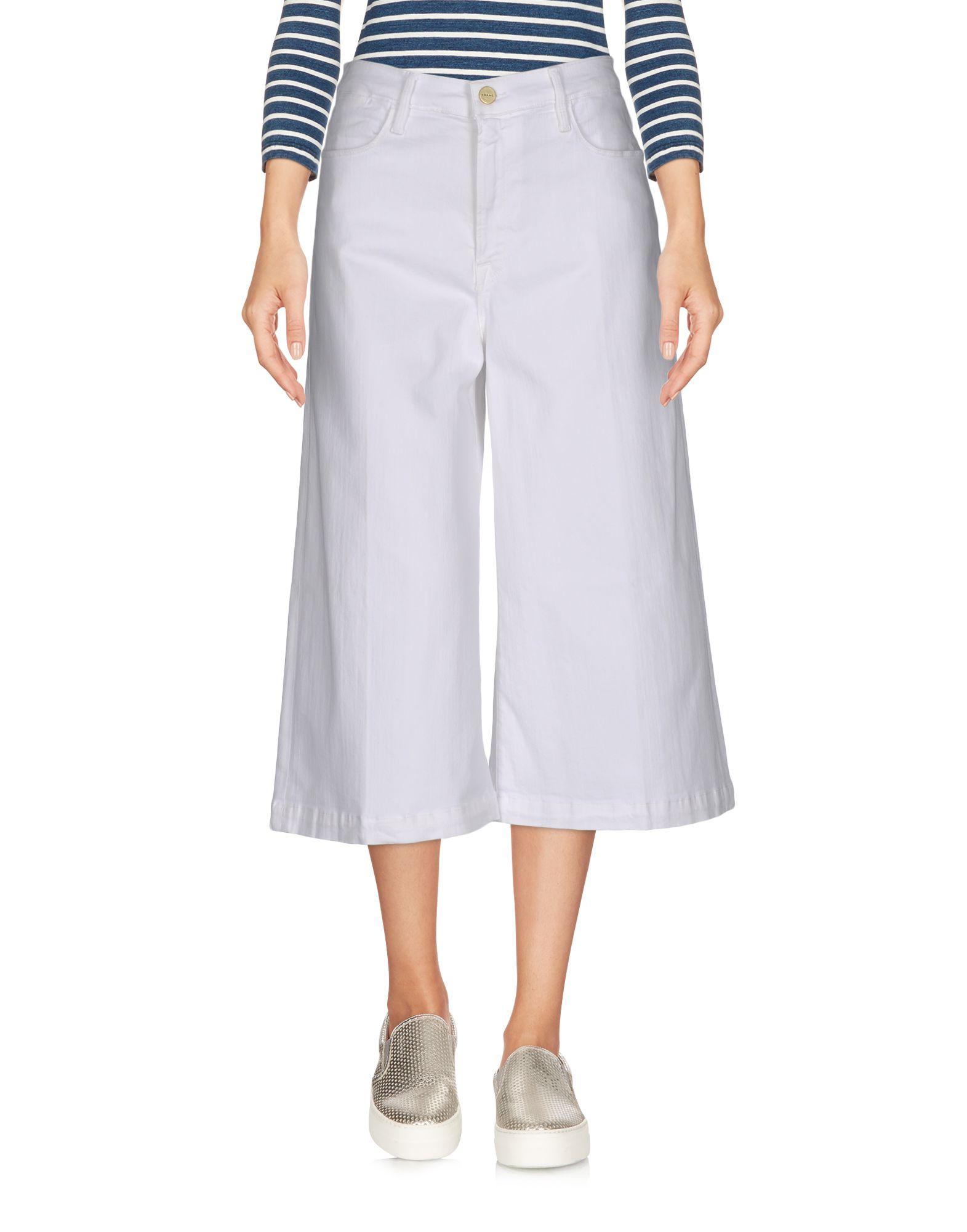 цена FRAME Джинсовые брюки-капри онлайн в 2017 году