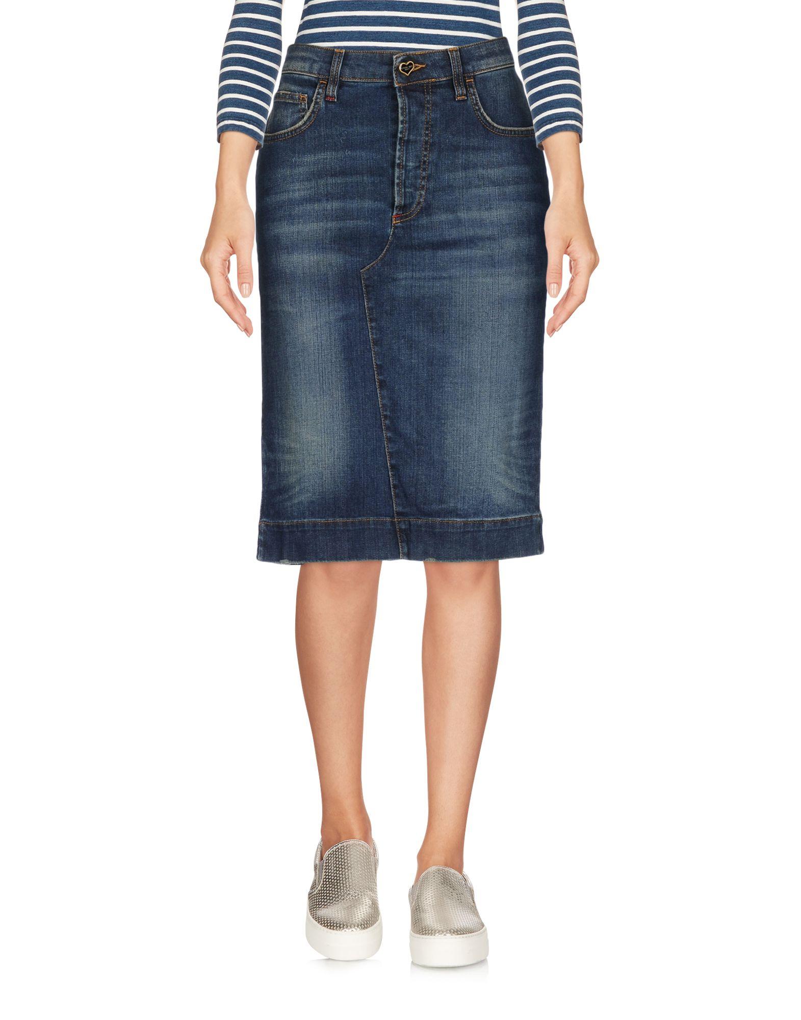 TWIN-SET JEANS Джинсовая юбка цена 2017