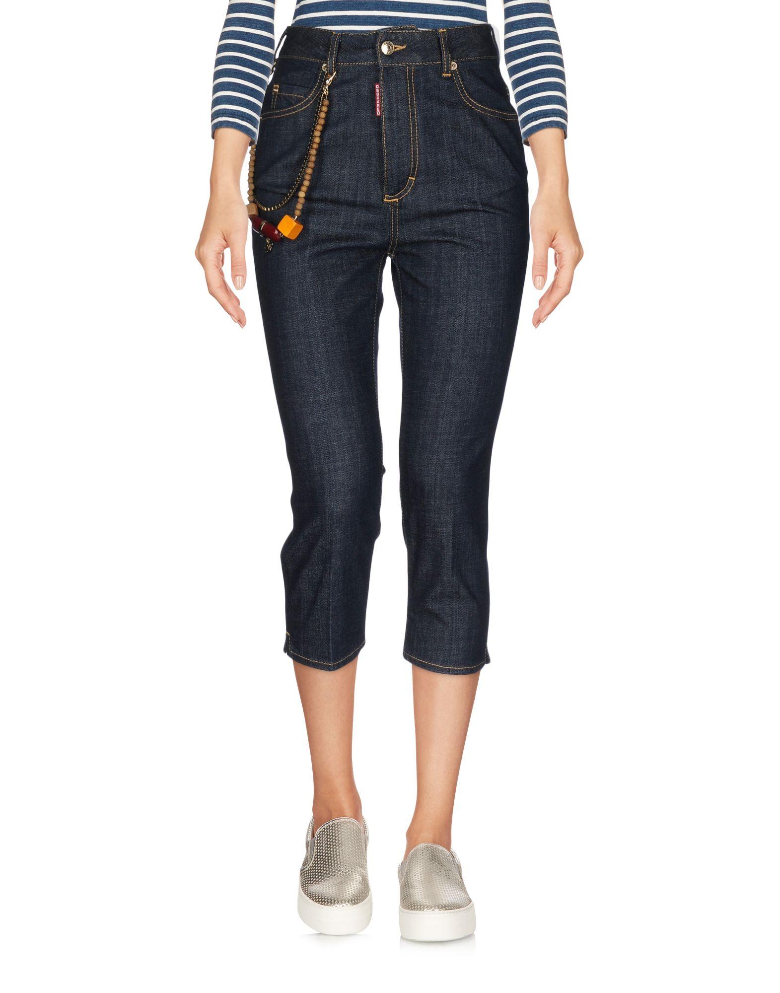 цена DSQUARED2 Джинсовые брюки-капри онлайн в 2017 году