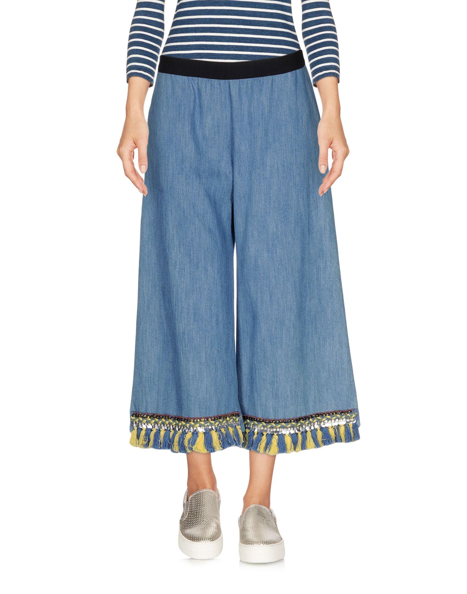 цена DV Roma Джинсовые брюки-капри онлайн в 2017 году