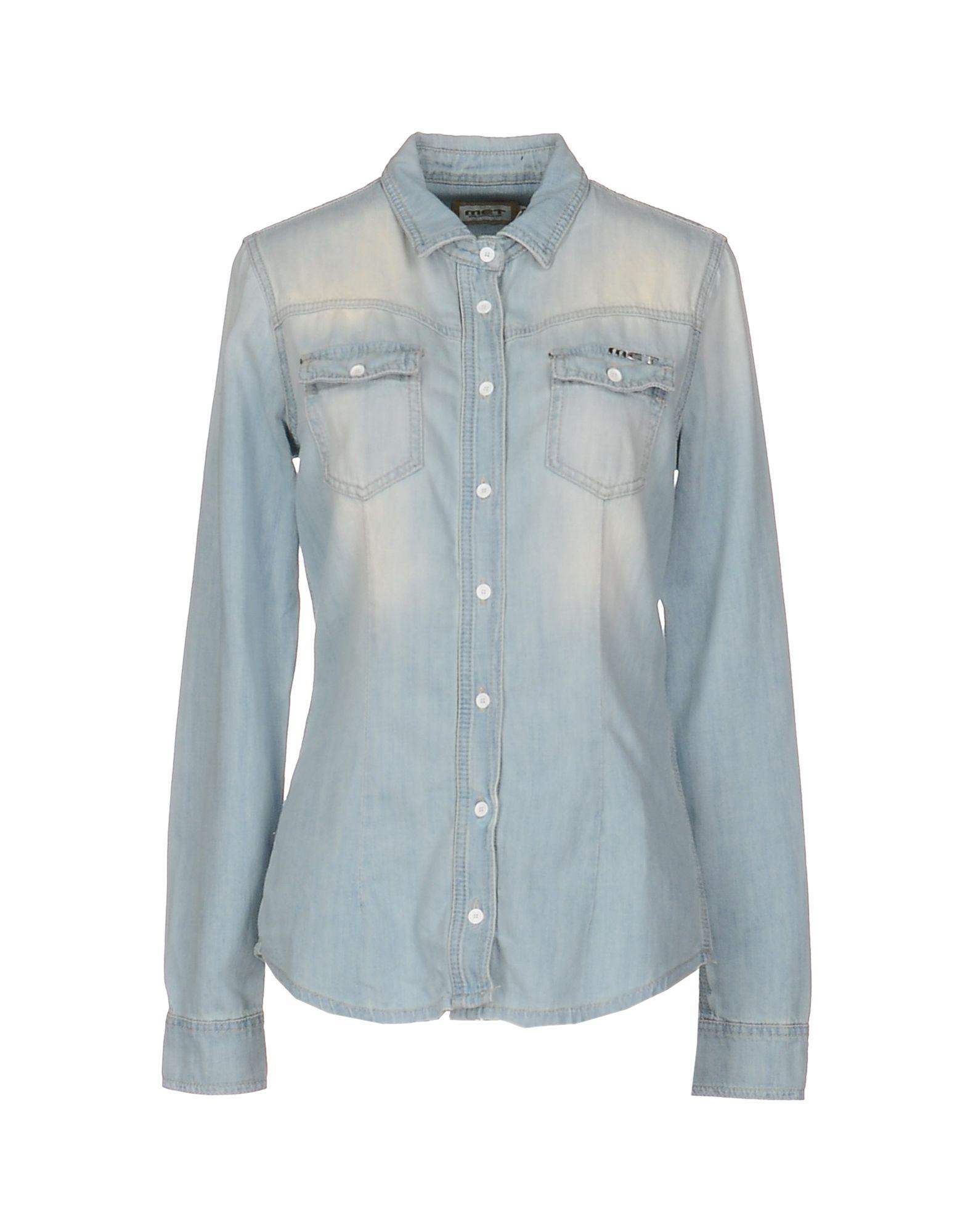 рубашки met рубашка MET Джинсовая рубашка