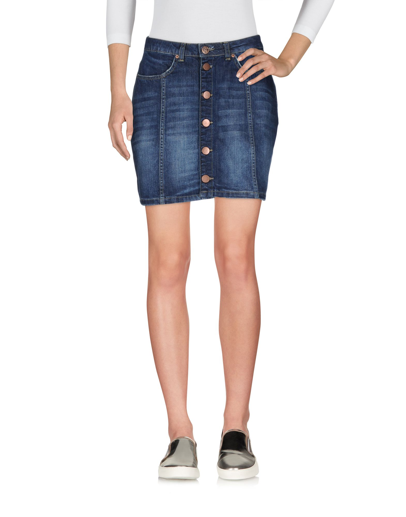 2ND ONE Damen Jeansrock Farbe Blau Größe 4