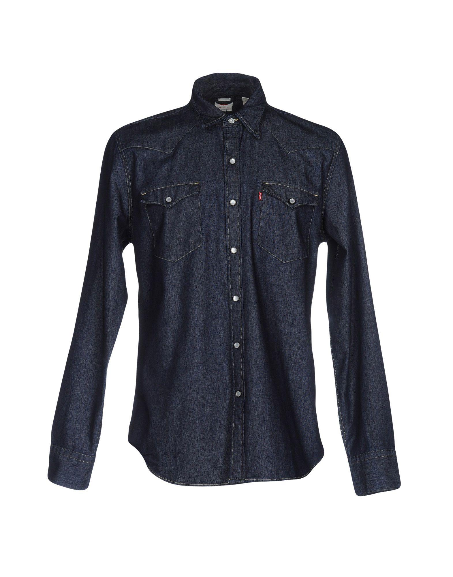 LEVI' S Джинсовая рубашка рубашка женская levi s® ultimate boyfriend цвет черный 5893700250 размер s 44