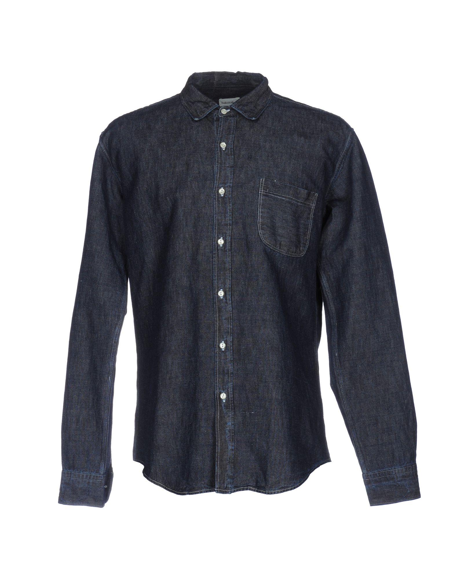 купить BAKUTO893 Джинсовая рубашка дешево