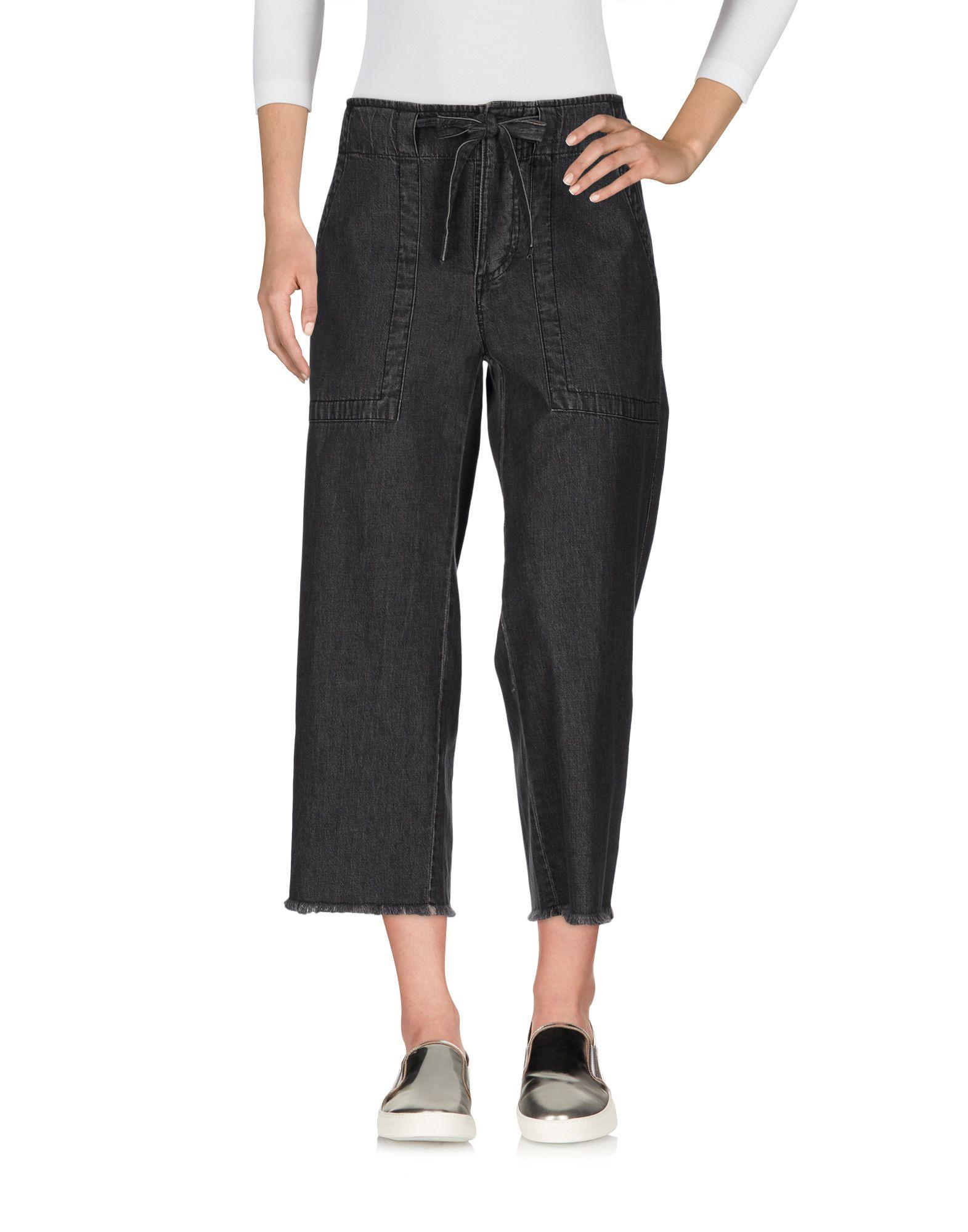 цена ULLA JOHNSON Джинсовые брюки-капри онлайн в 2017 году