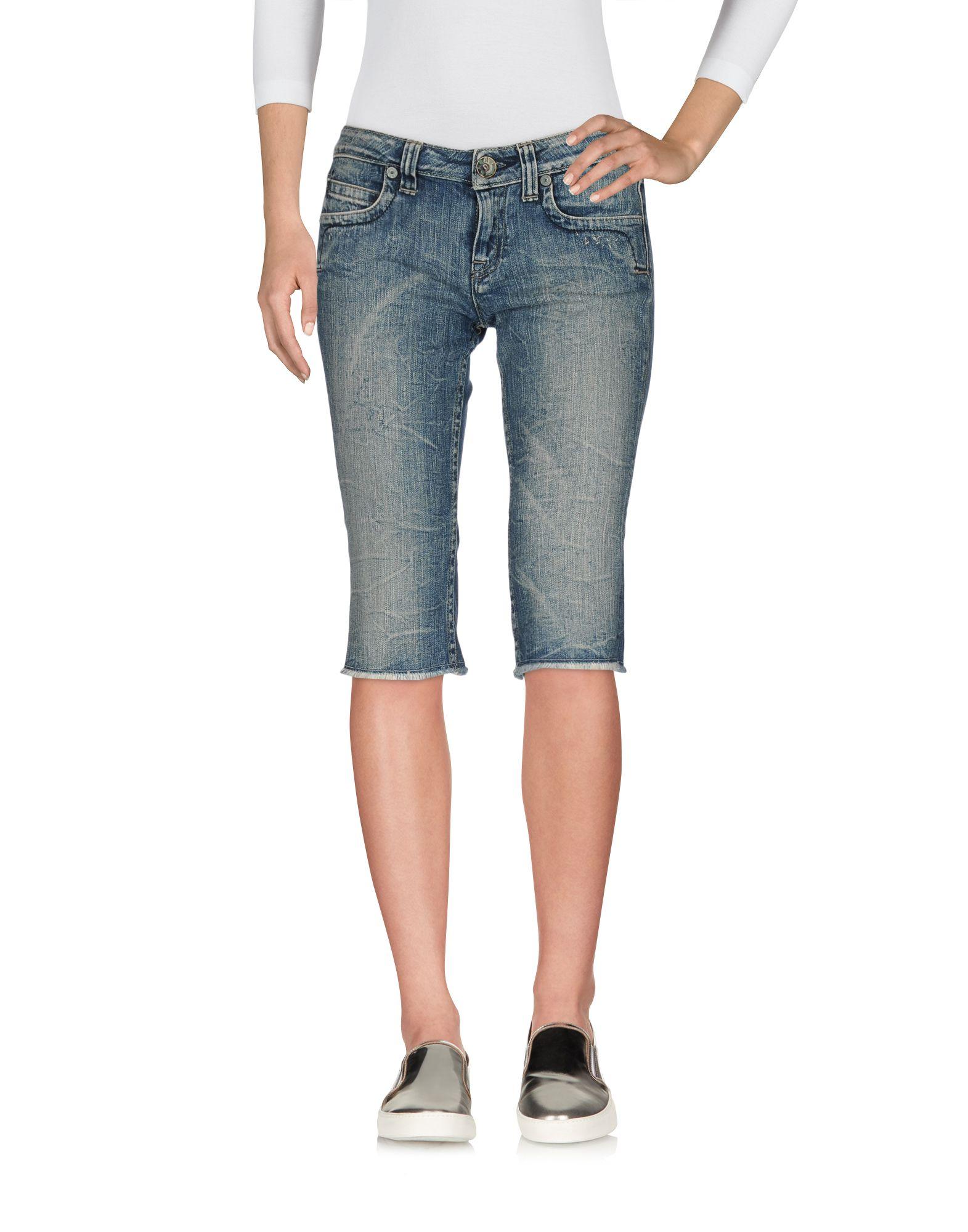 RA-RE Джинсовые брюки-капри ra re свитер с короткими рукавами