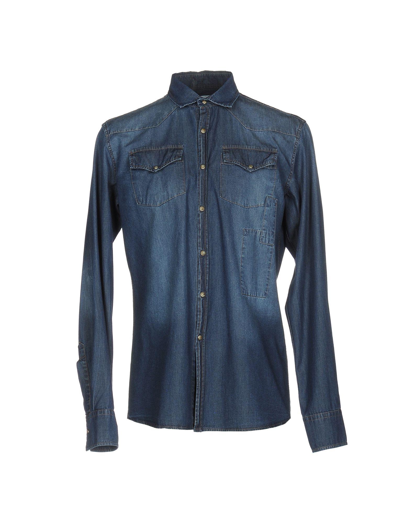 《送料無料》AUTHENTIC ORIGINAL VINTAGE STYLE メンズ デニムシャツ ブルー XS コットン 100%