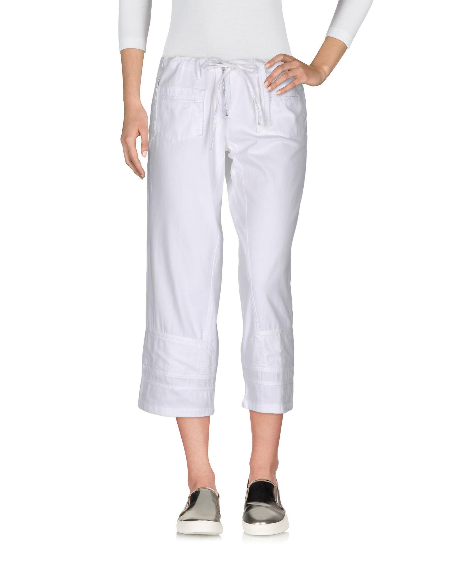 AMERICAN RETRO Denim Pants in White