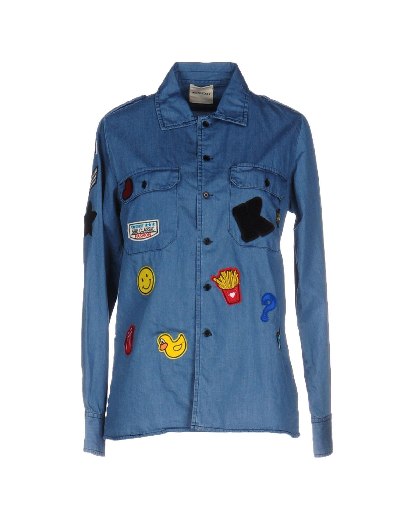 KENGSTAR Джинсовая рубашка kengstar джинсовая верхняя одежда