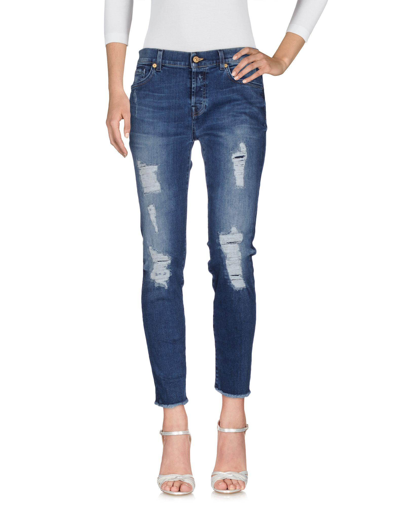 7 FOR ALL MANKIND Джинсовые брюки цена 2017