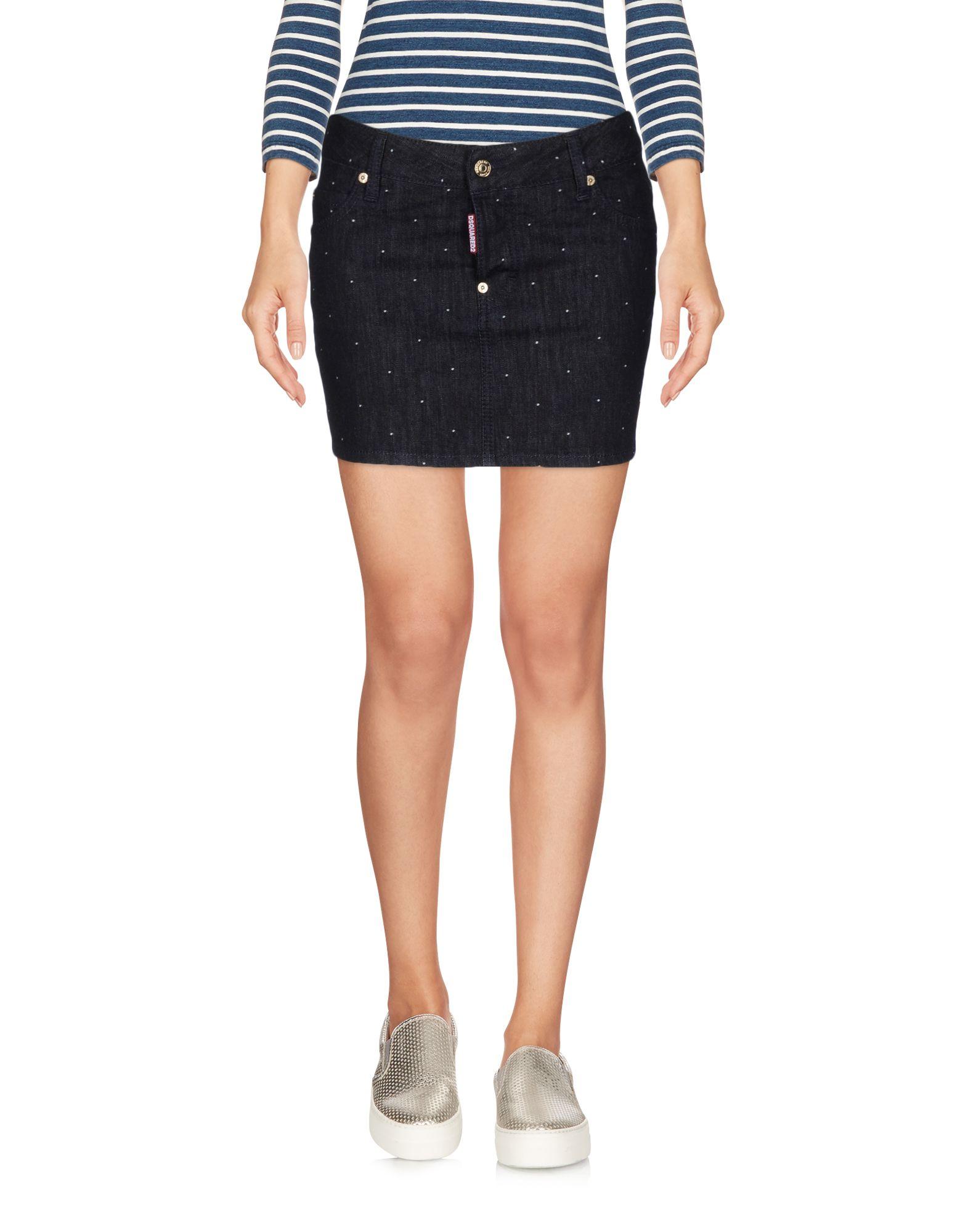 DSQUARED2 Джинсовая юбка чаша горошек 2 л бел син 1150426