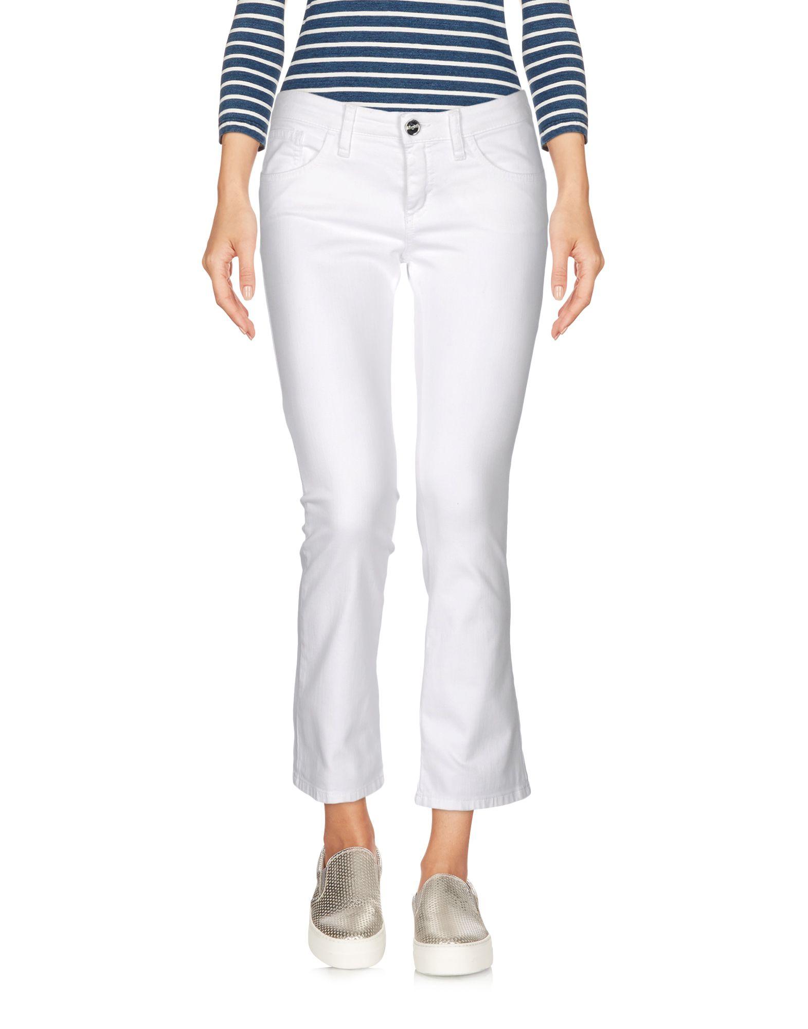 цена BLUGIRL JEANS Джинсовые брюки-капри онлайн в 2017 году