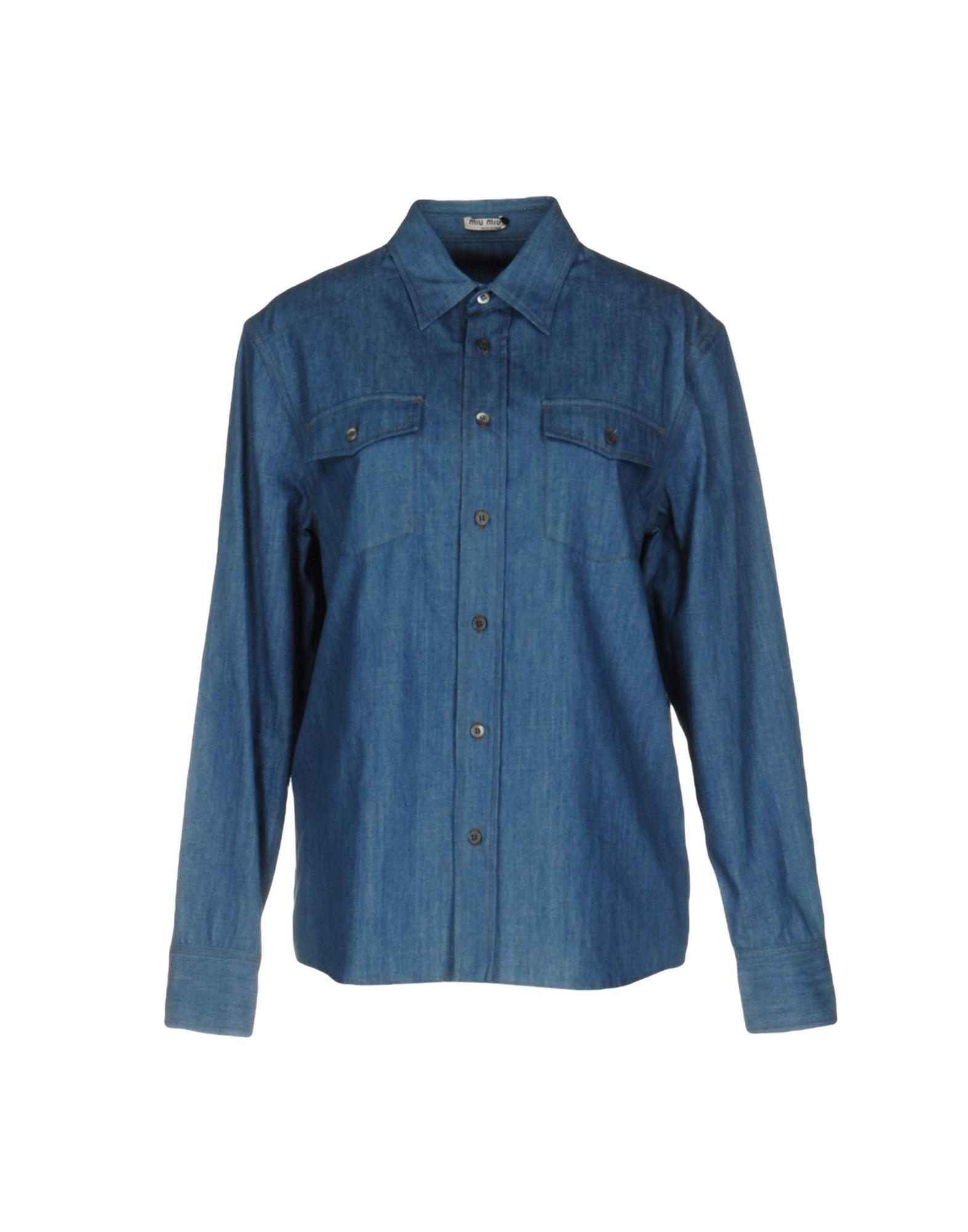 MIU MIU Джинсовая рубашка цена и фото