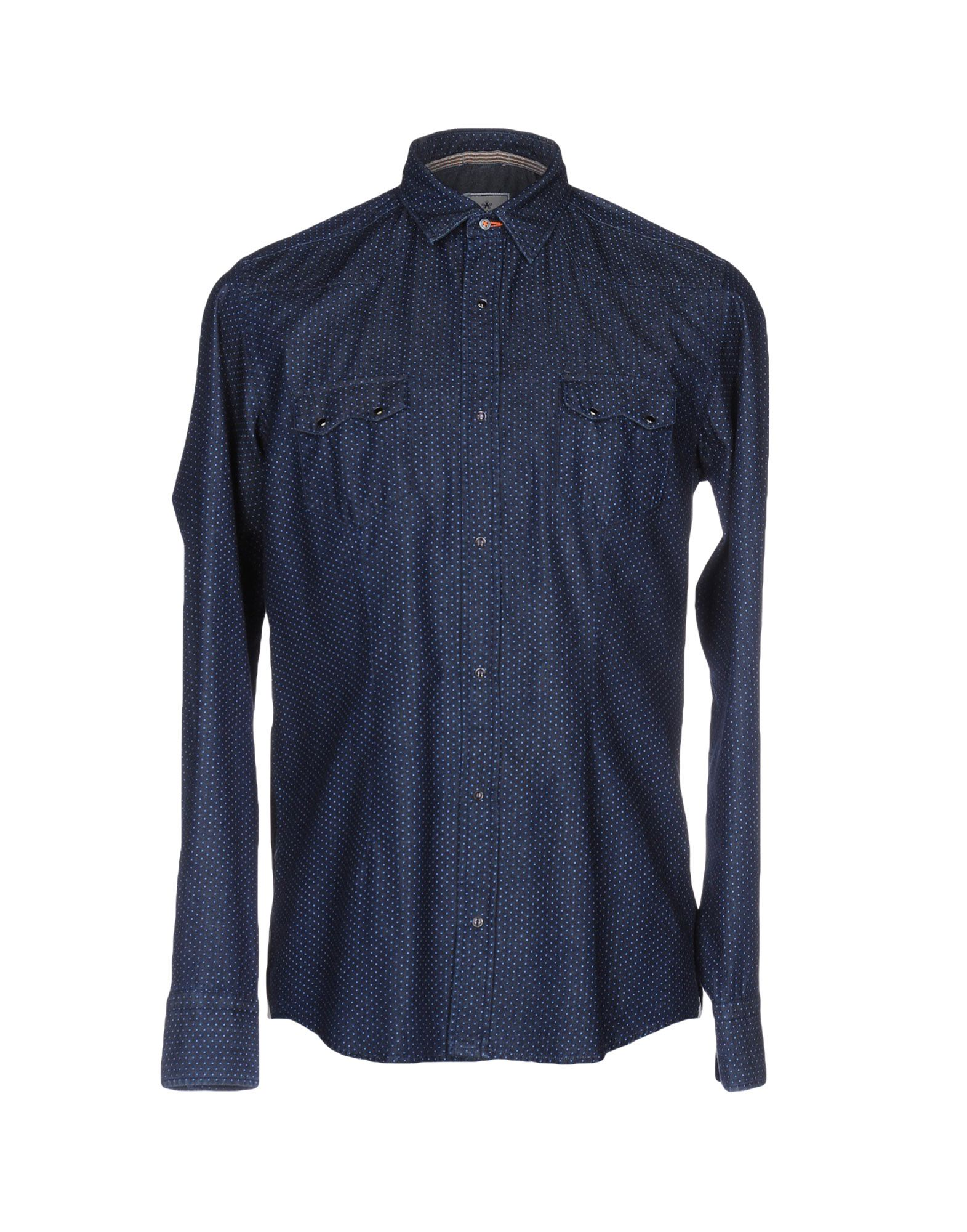 PORTOFIORI Джинсовая рубашка рубашка в мелкий горошек
