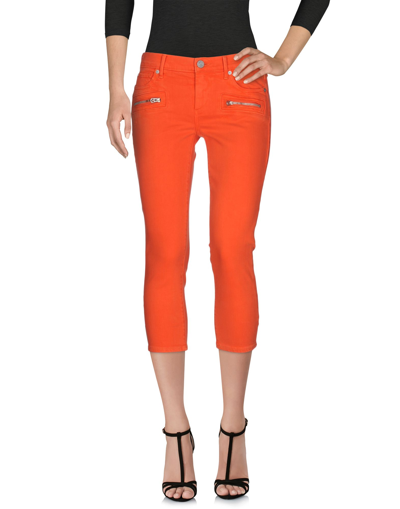 TRUE RELIGION Джинсовые брюки-капри true religion джинсовые брюки