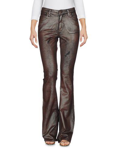 Джинсовые брюки ANGELO MARANI. Цвет: какао