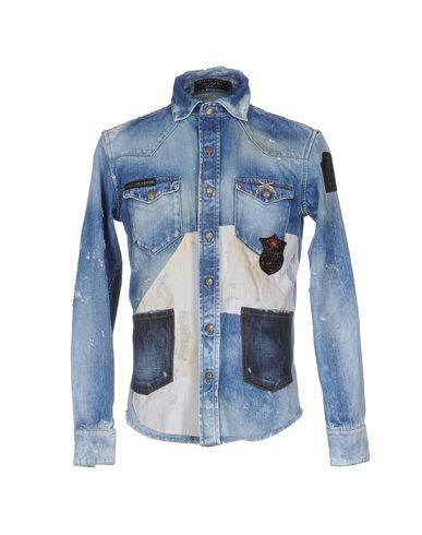 Джинсовая рубашка PHILIPP PLEIN 42583096CQ