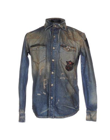 Джинсовая рубашка PHILIPP PLEIN 42583158SI