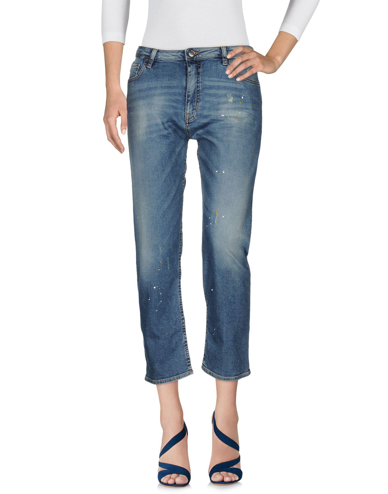Фото LOVE MOSCHINO Джинсовые брюки. Купить с доставкой