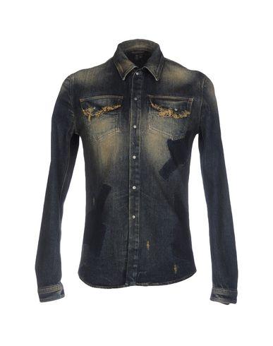 Джинсовая рубашка ROBERTO CAVALLI 42584336TS