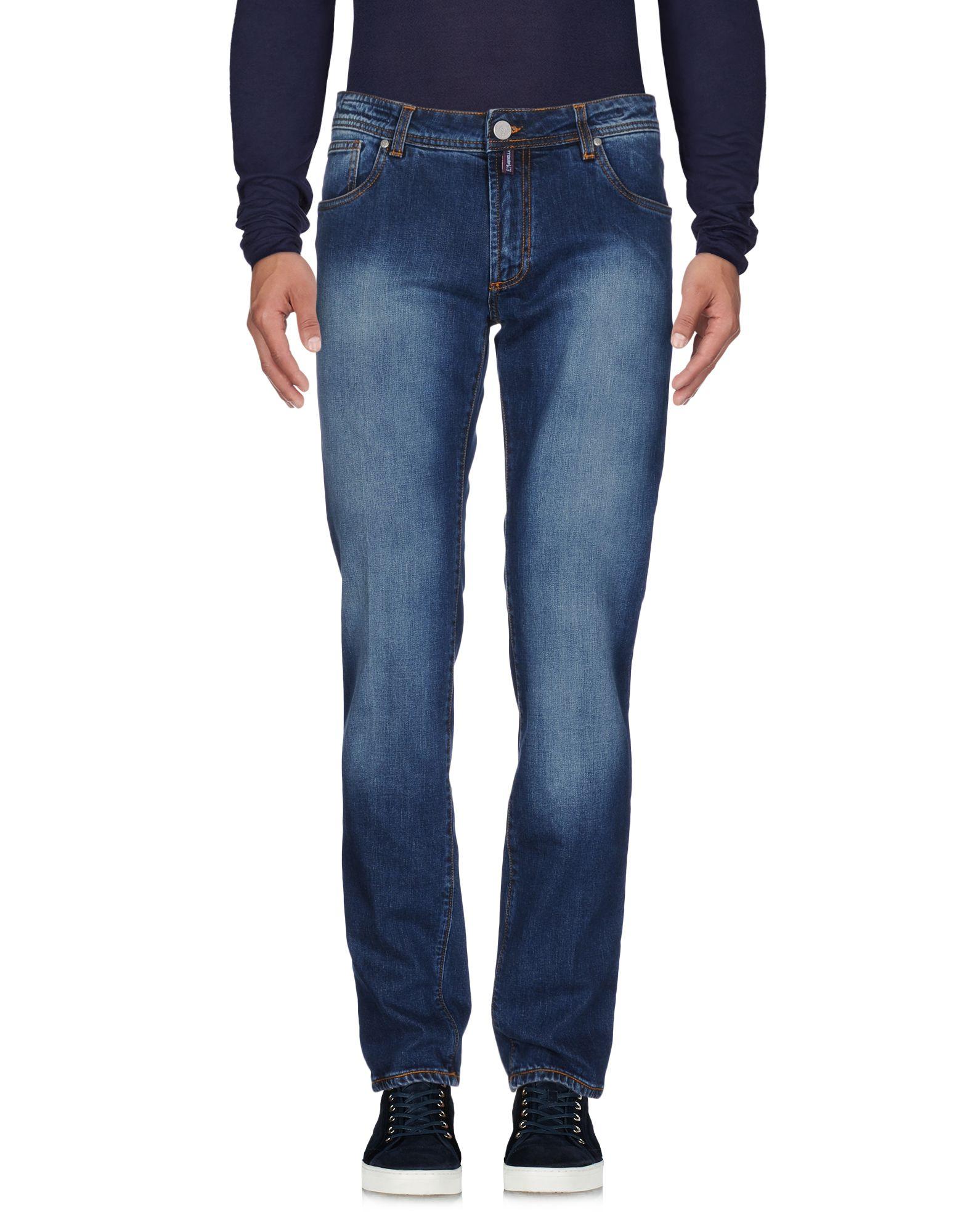 《期間限定 セール開催中》E.MARINELLA メンズ ジーンズ ブルー 46 コットン 98% / ポリウレタン 2%