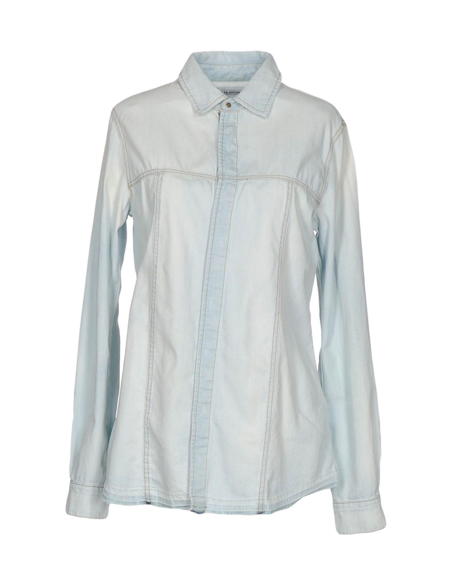 HUDSON Джинсовая рубашка блуза нижняя майка