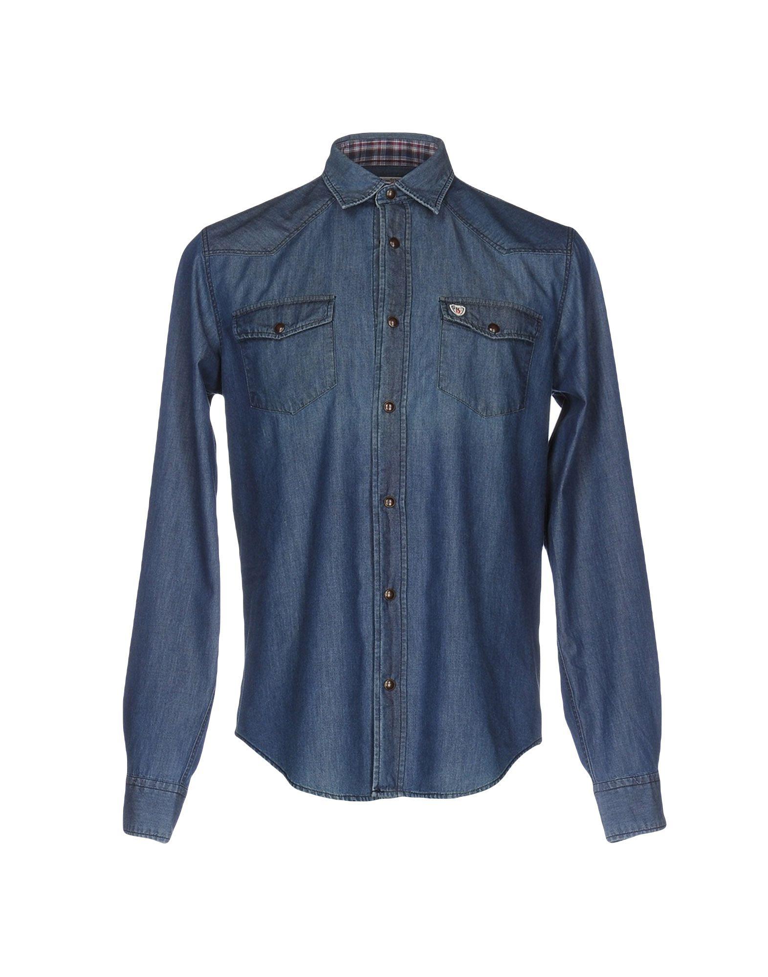 цена HENRY COTTON'S Джинсовая рубашка онлайн в 2017 году
