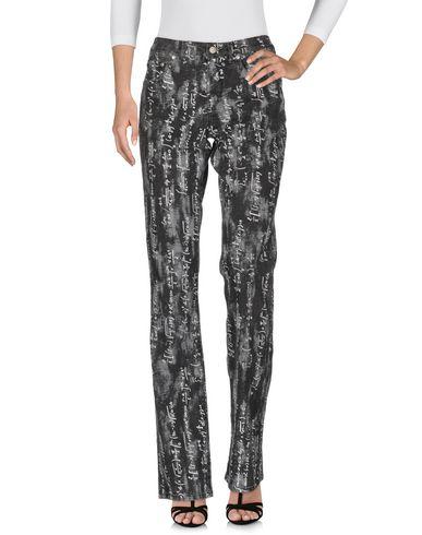 Джинсовые брюки ANGELO MARANI. Цвет: свинцово-серый