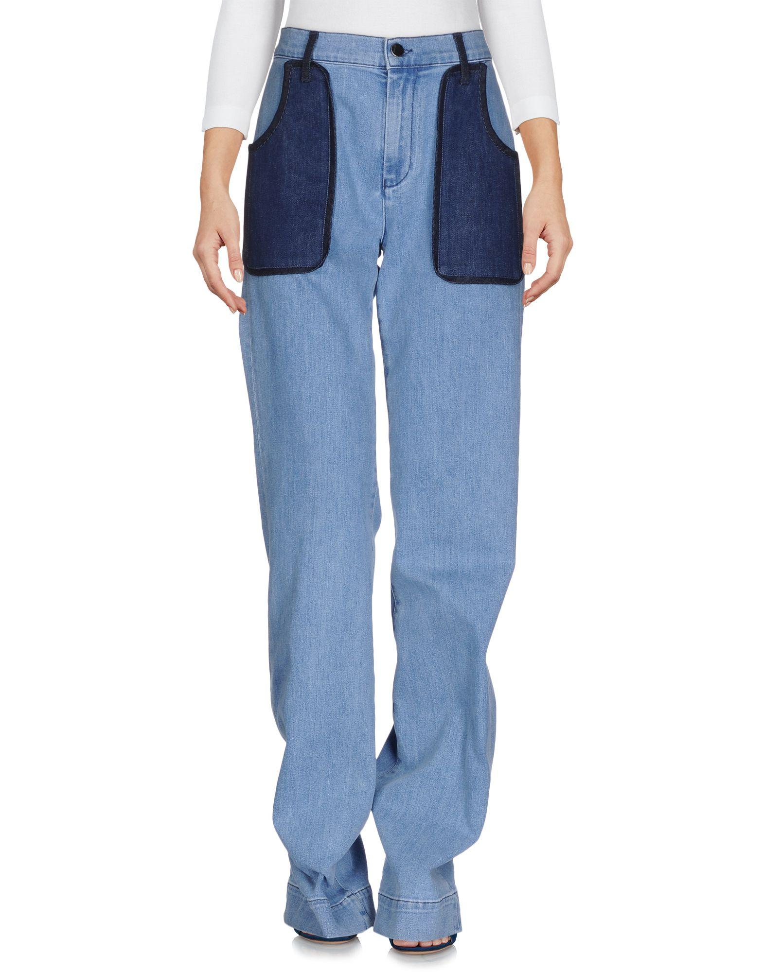 victoria beckham укороченные джинсы VICTORIA, VICTORIA BECKHAM Джинсовые брюки