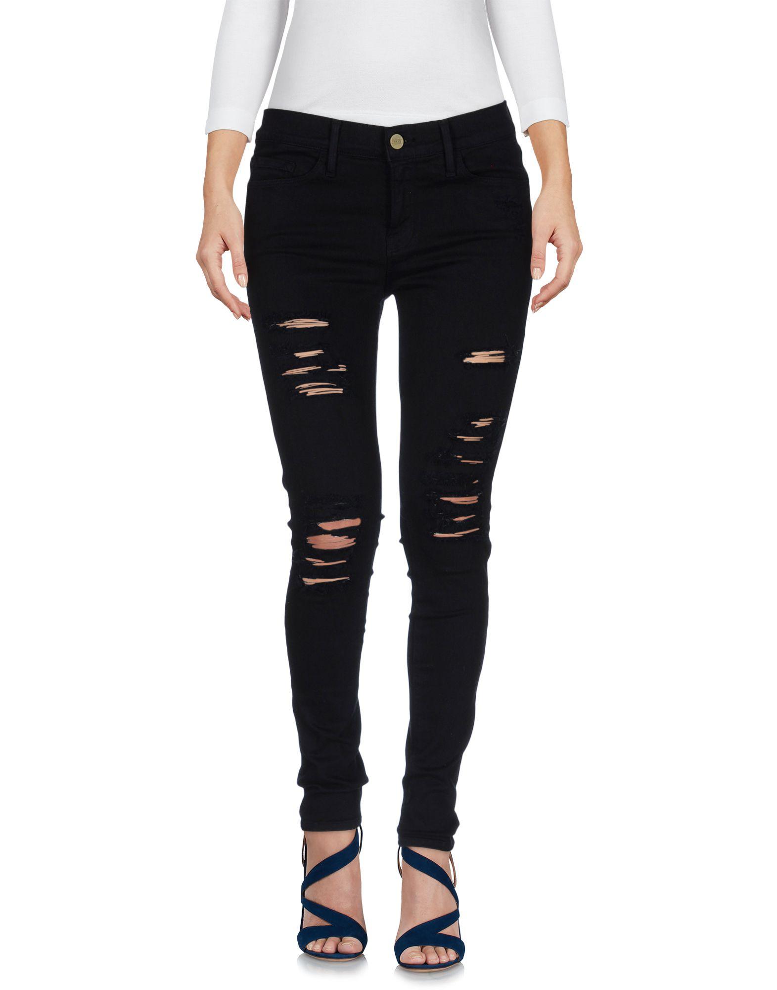 FRAME Damen Jeanshose Farbe Dunkelblau Größe 5 - broschei