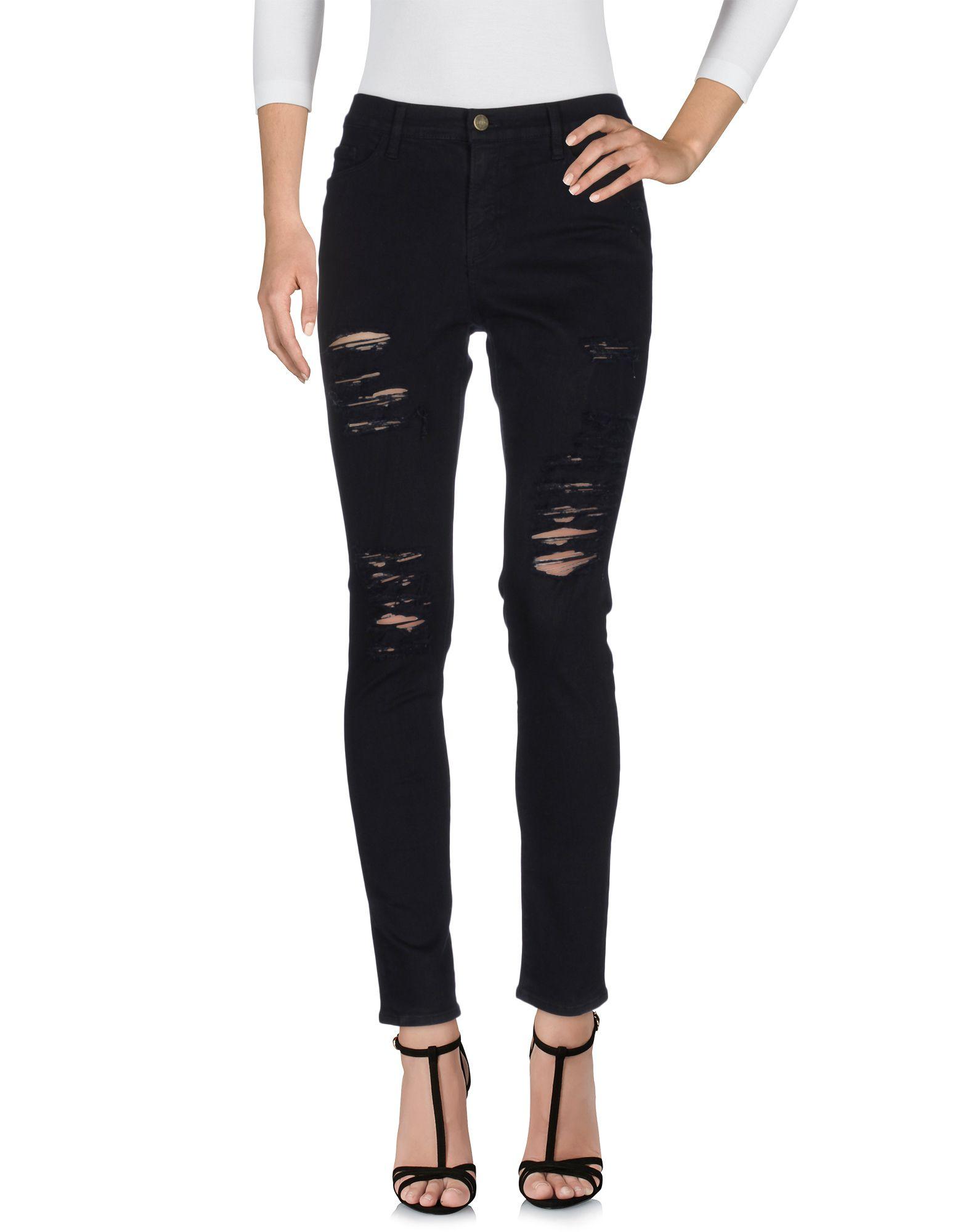 FRAME Damen Jeanshose Farbe Schwarz Größe 9 - broschei