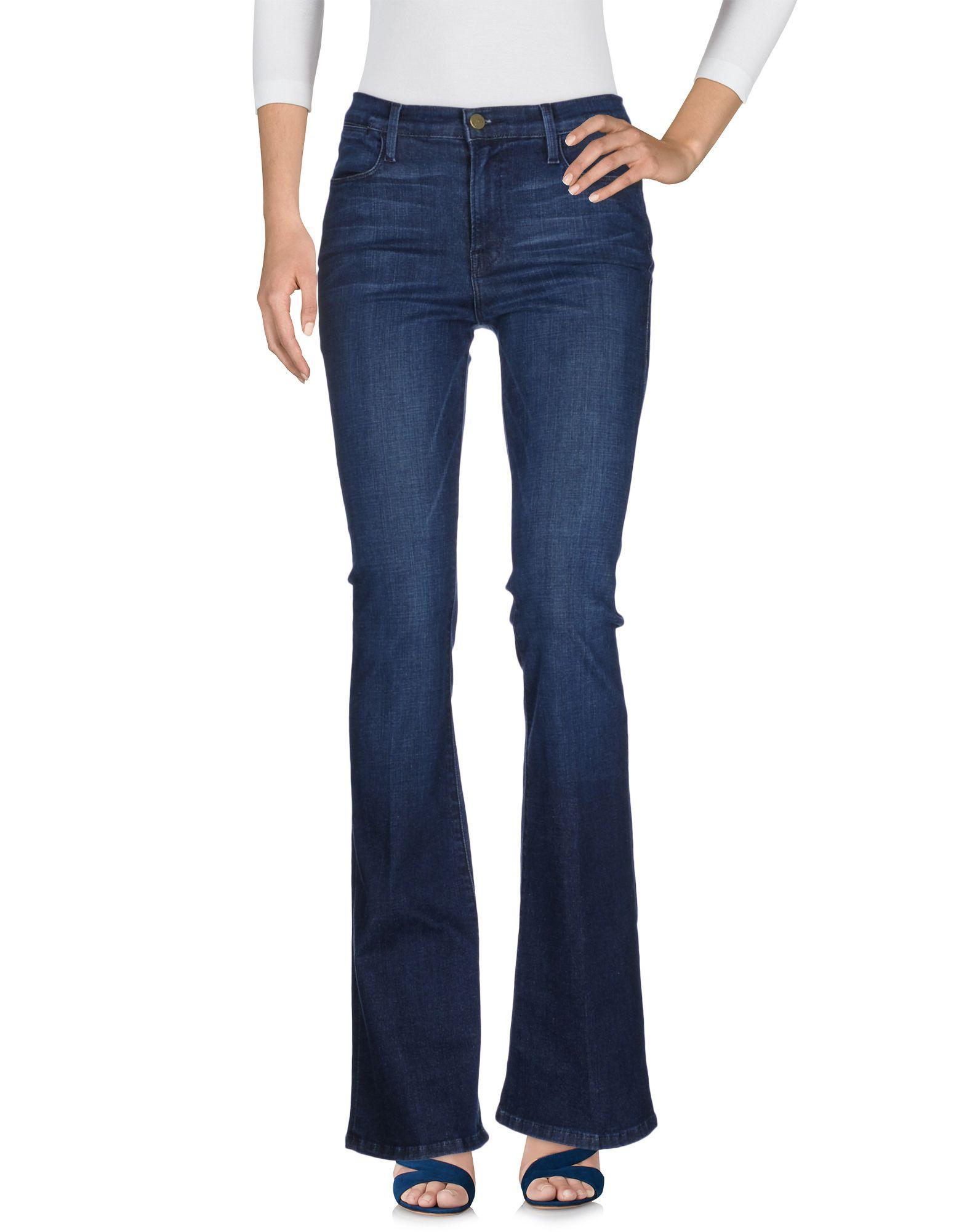 FRAME Damen Jeanshose Farbe Blau Größe 8 - broschei