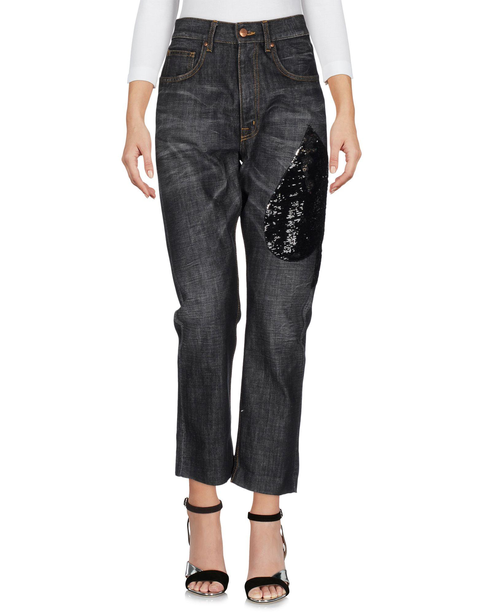(+) PEOPLE Damen Jeanshose Farbe Schwarz Größe 4 - broschei