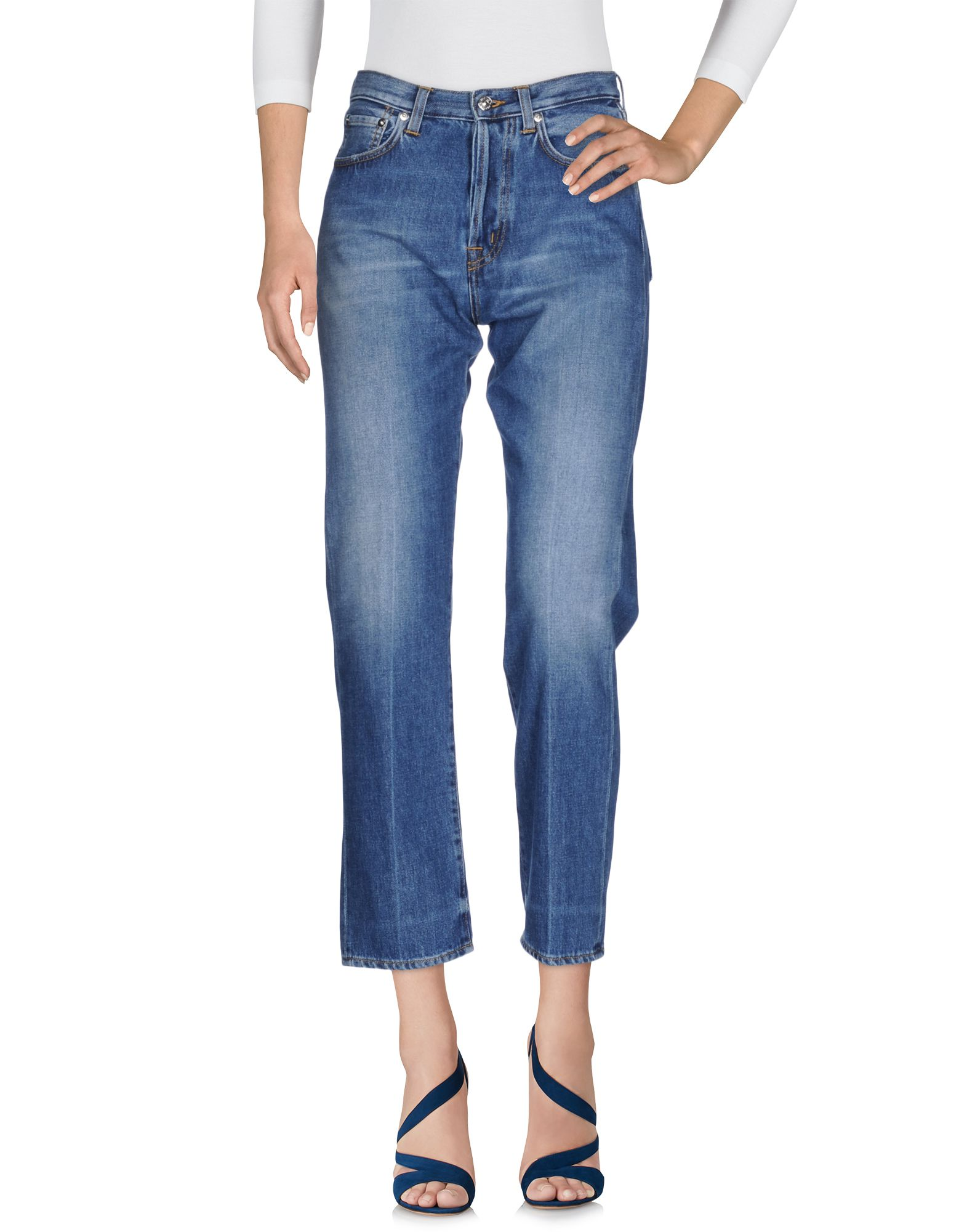 (+) PEOPLE Damen Jeanshose Farbe Blau Größe 7 - broschei