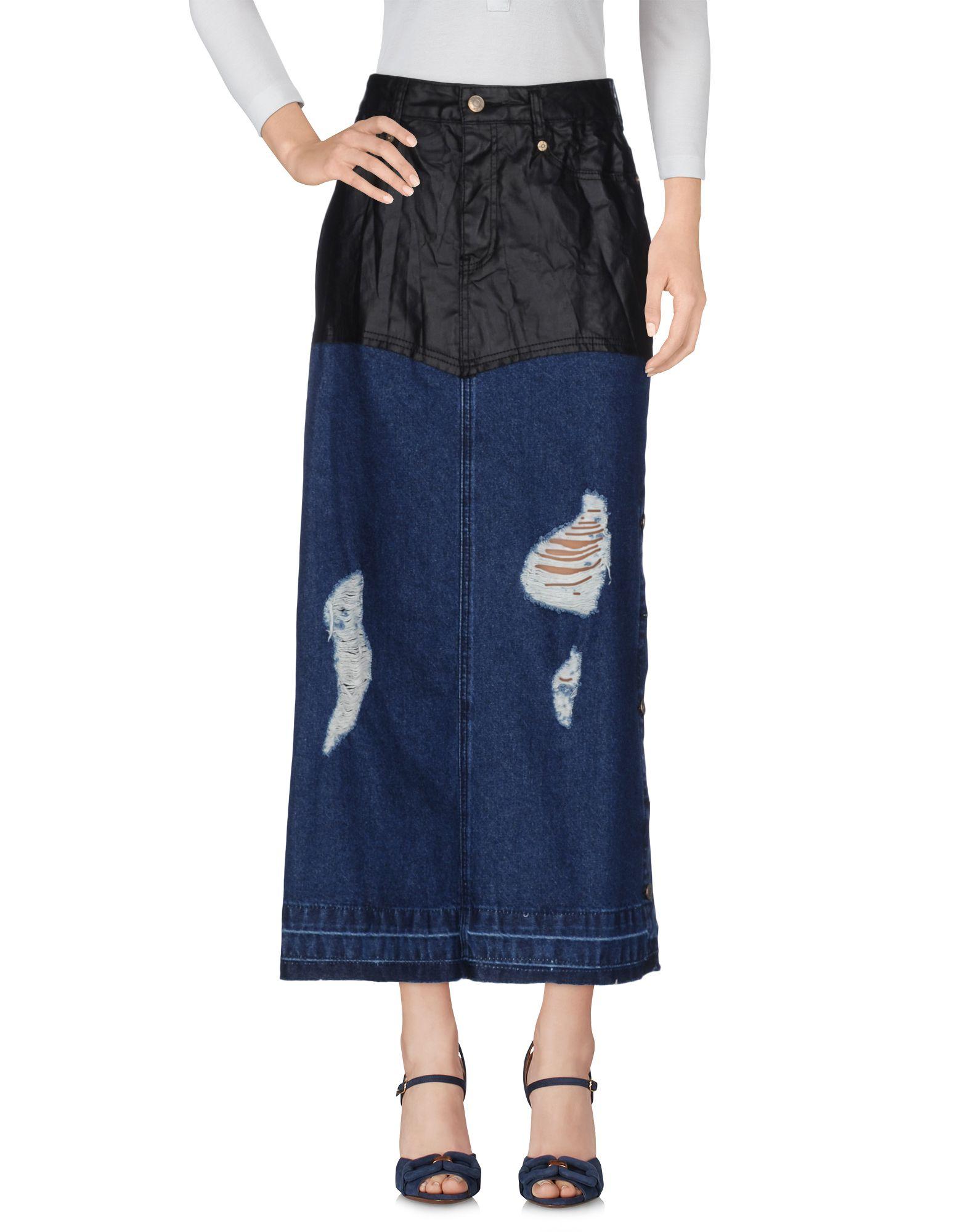 SJYP Damen Jeansrock Farbe Blau Größe 3 - broschei